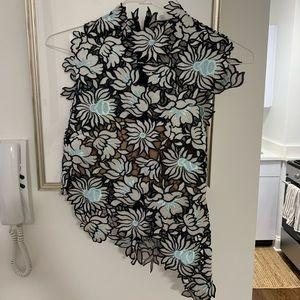 Self-Portrait floral top